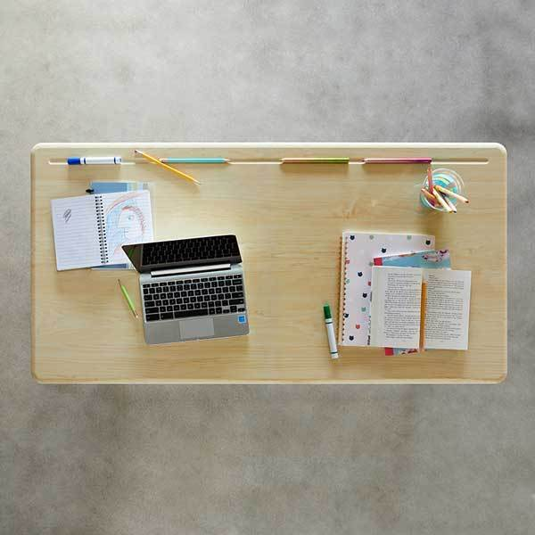 Desktop flatlay view Stand2Learn Desk for Two 5-12 VARIDESK Education Active Goods Canada