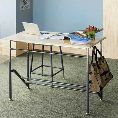 Stand2Learn Desk for Two K-5 VARIDESK Education in classroom from Active Goods Canada