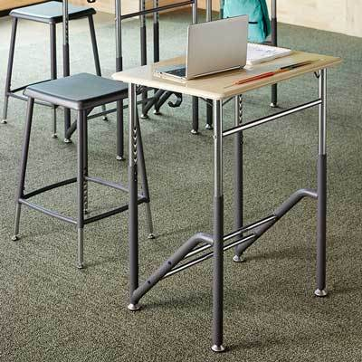 Stand2Learn Desk K-5 VARIDESK Education in classroom from Active Goods Canada
