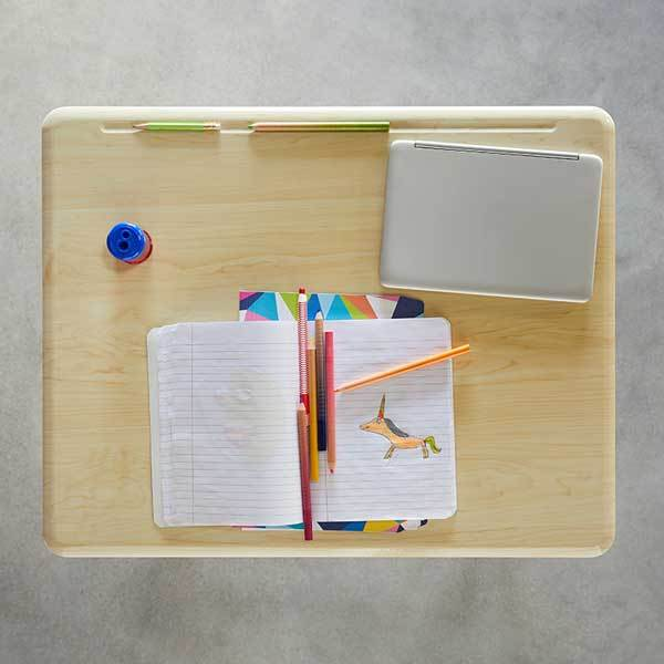Desktop flatlay view Stand2Learn Desk K-5 VARIDESK Education