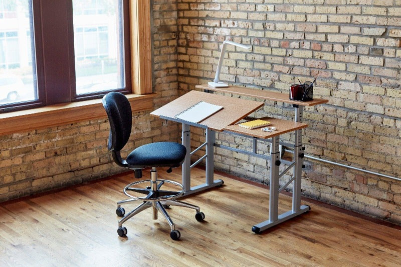 Height-Adjustable Split Level Drafting Table for architects and artists from Active Goods Canada
