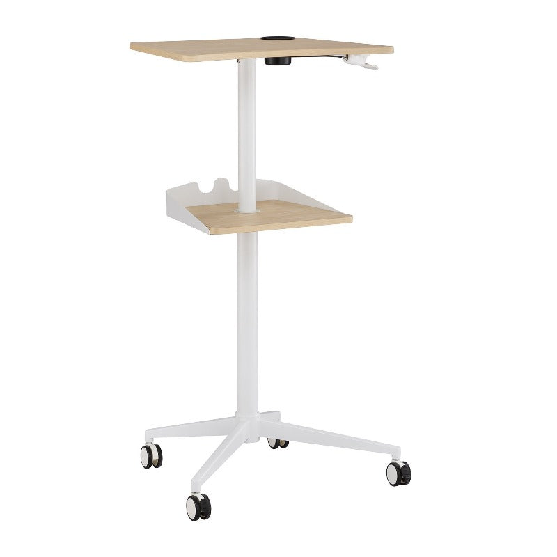 Safco Vum™ Mobile Workstation by Fitneff Canada in Nautral