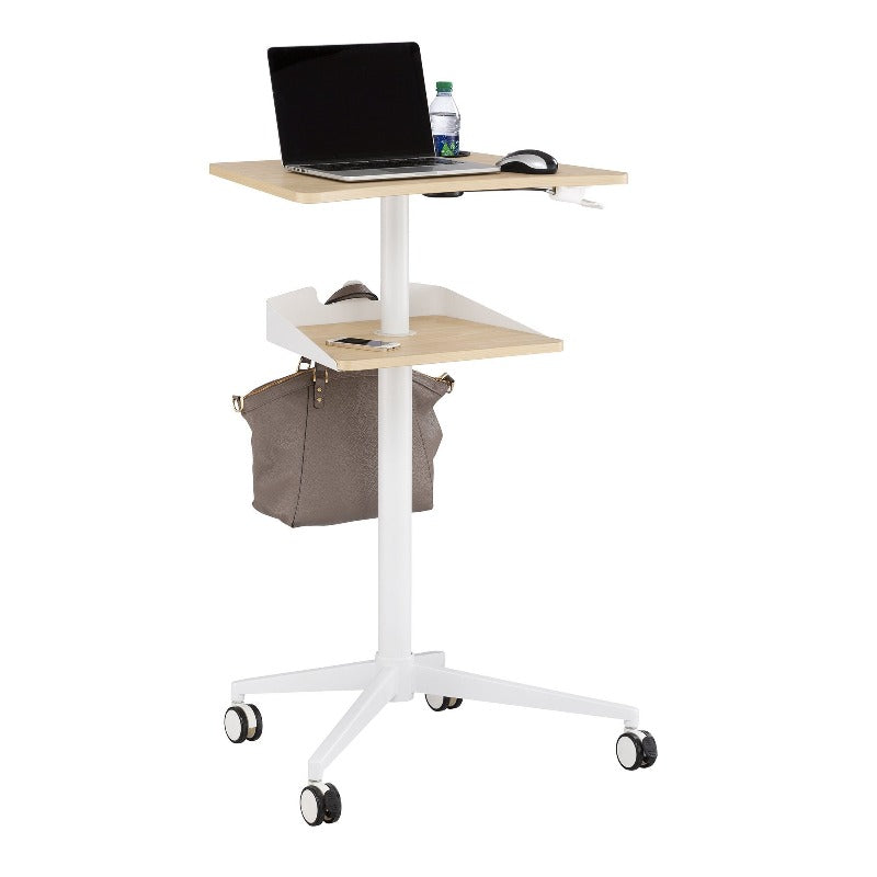Safco Vum™ Mobile Workstation  by Fitneff Canada in Natural