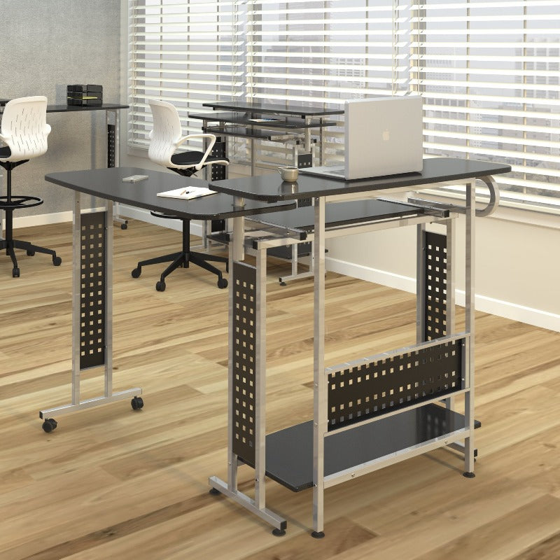 Safco Scoot™ Shift Standing-Height Desk with Rotating Work Surface Model #1974BL Office Space Active Work Active Living