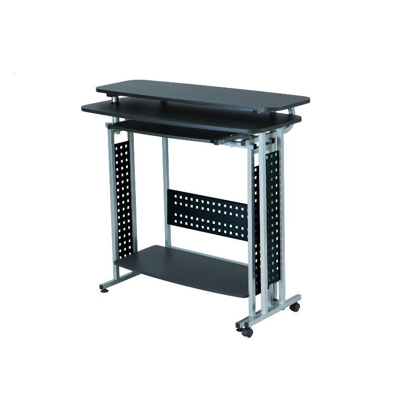 Safco Scoot™ Shift Standing-Height Desk with Rotating Work Surface Model #1974BL Closed