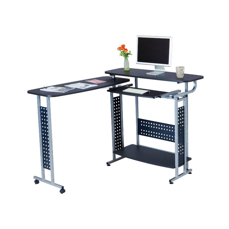 Safco Scoot™ Shift Standing-Height Desk with Rotating Work Surface Model #1974BL Open from Active Goods Canada