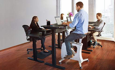 Active Office space with LocTek FlexiSpot V9U Under-Desk Bike From Active Goods Canada