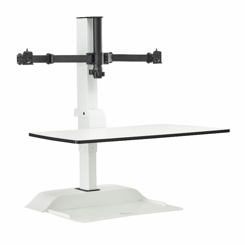 Soar™ by Safco Electric Desktop Sit/Stand – Dual Monitor Arm