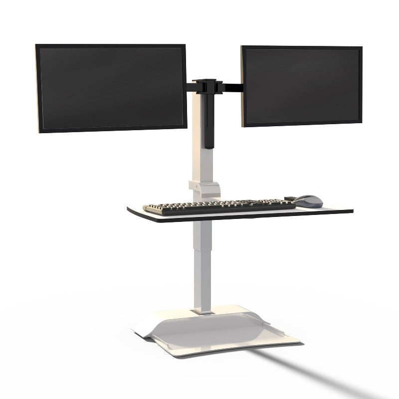 Safco sit-stand desk unit with suspended keyboard Active Goods Canada