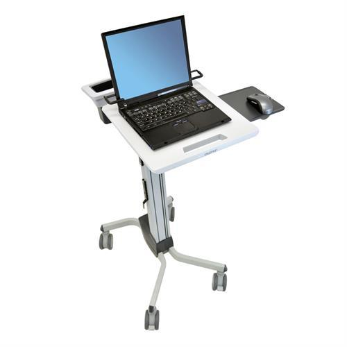 Mobile laptop cart with mouse and mouse pad