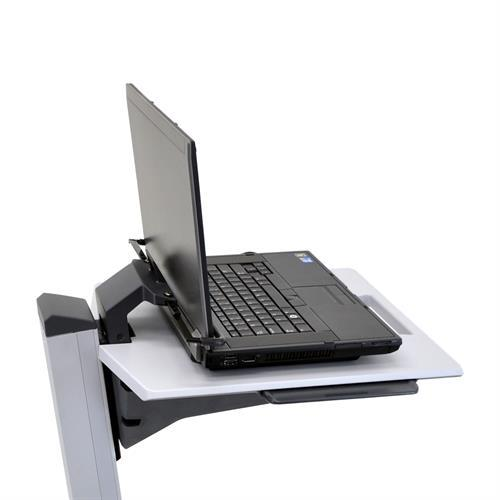 Laptop sitting on mobile laptop cart from Active Goods Canada