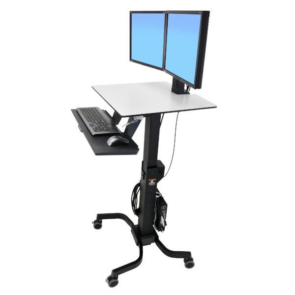 Ergotron Sit-Stand Desk Monitor WorkFit-CErgotron WorkFit-A Sit-Stand Desktop Workstation with suspended keyboard from Active Goods Canada