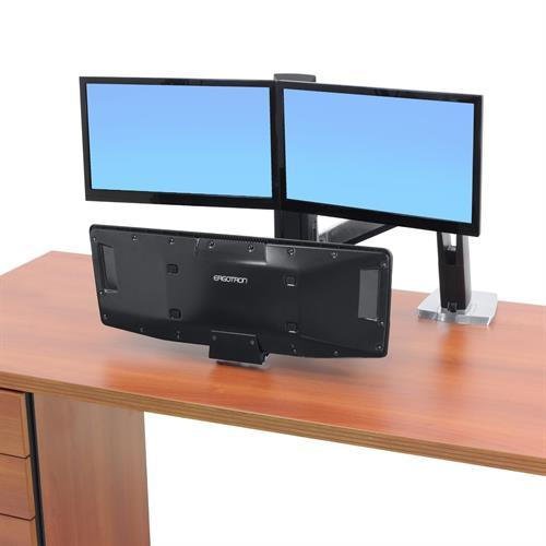 Ergotron WorkFit-A Sit-Stand Desktop Workstation with suspended keyboard from Active Goods Canada