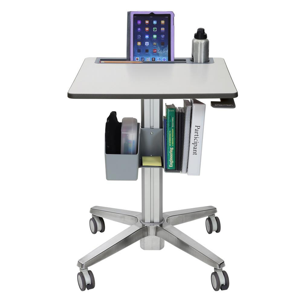 Ergotron LearnFit® Sit-Stand Desk with accessories from Active Goods Canada.