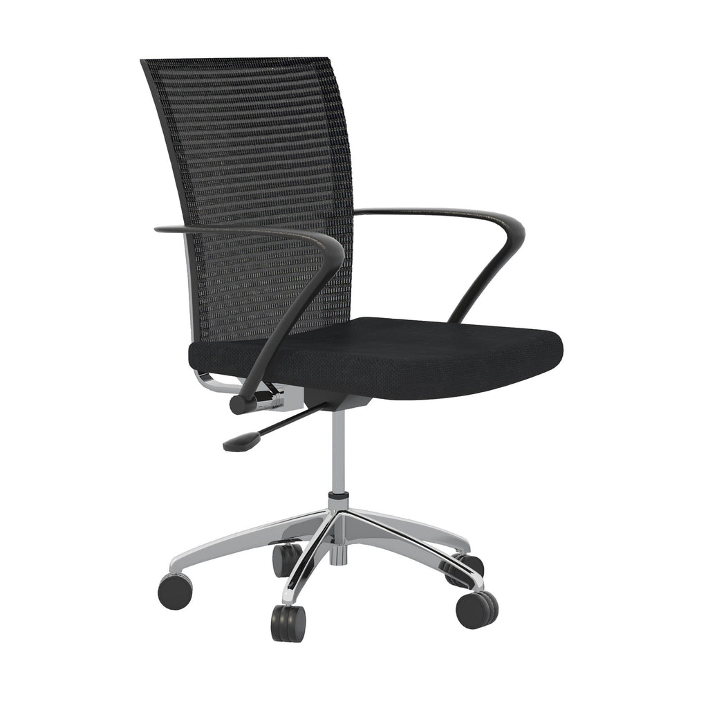Safco Valoré Height Adjustable Task Chair from Fitneff Canada. Side View