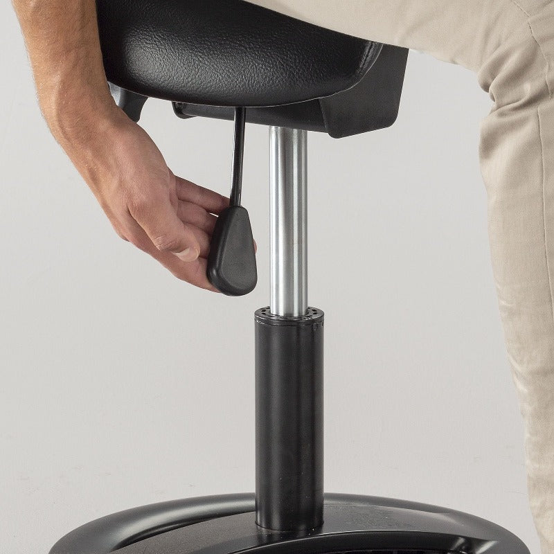 Twixt Saddle Seat Adjustable Height Stool by Safco
