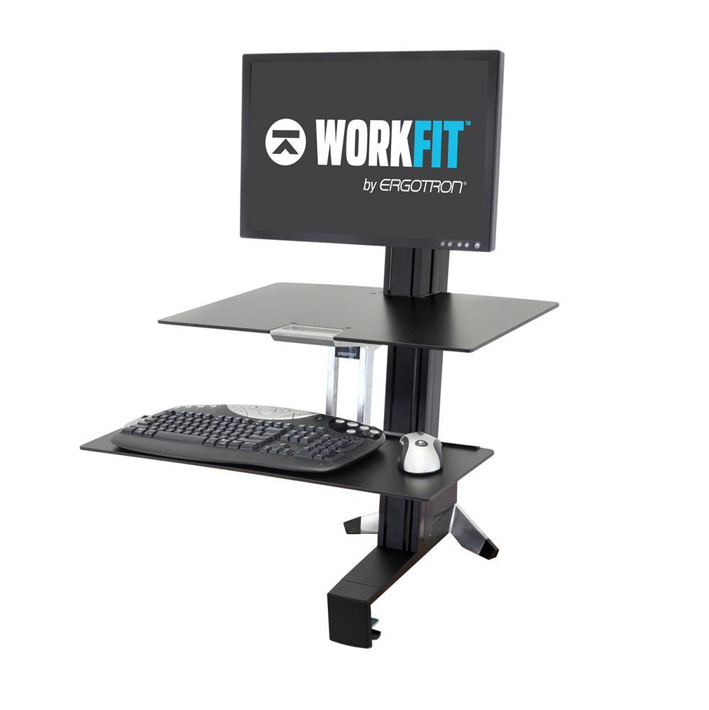 Ergotron Single WorkFit-S Sit-Stand Desktop Workstations. Fitneff Canada