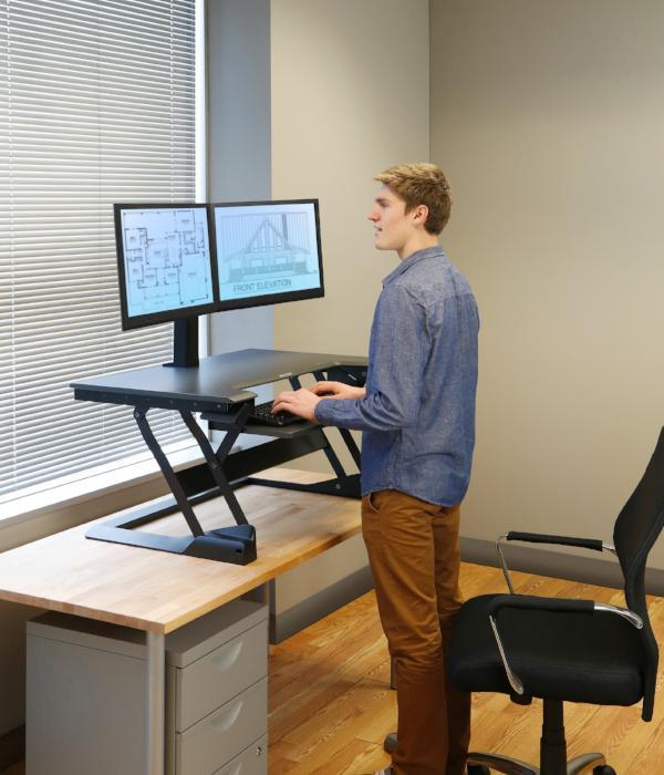 Ergotron WorkFit-T/TL Sit-Stand Desktop Workstation Fitneff Canada