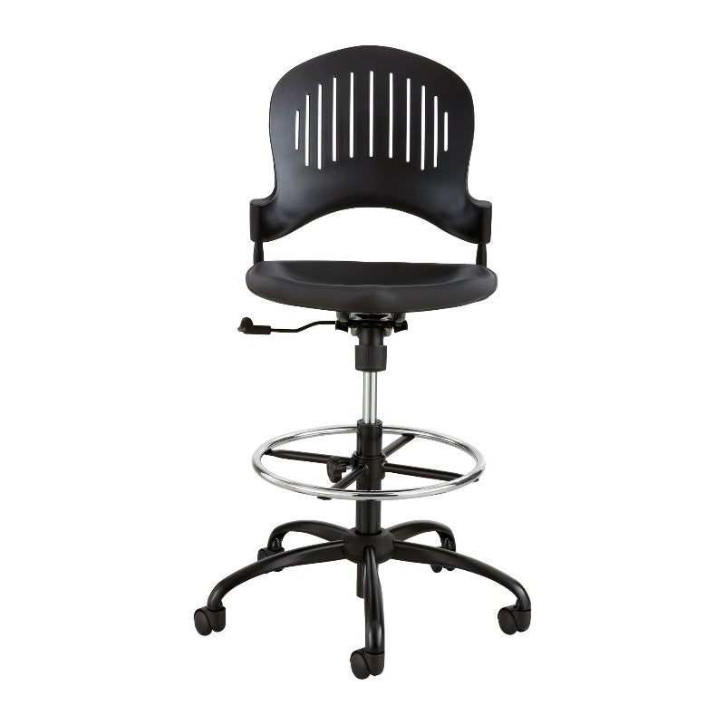 Safco Zippi™ Plastic Extended-Height Chair Model # 3386BL View Black from Active Goods