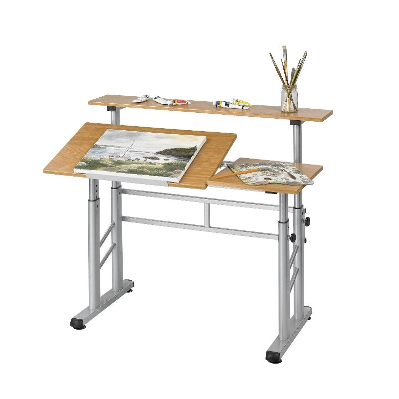Safco Height-Adjustable Split Level Drafting Table Model # 3965MO Product View Drafting Desk