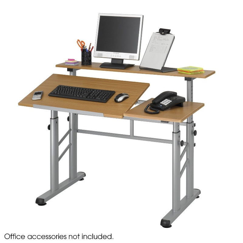 Safco Height-Adjustable Split Level Drafting Table Model # 3965MO Product View Drafting Desk Computer