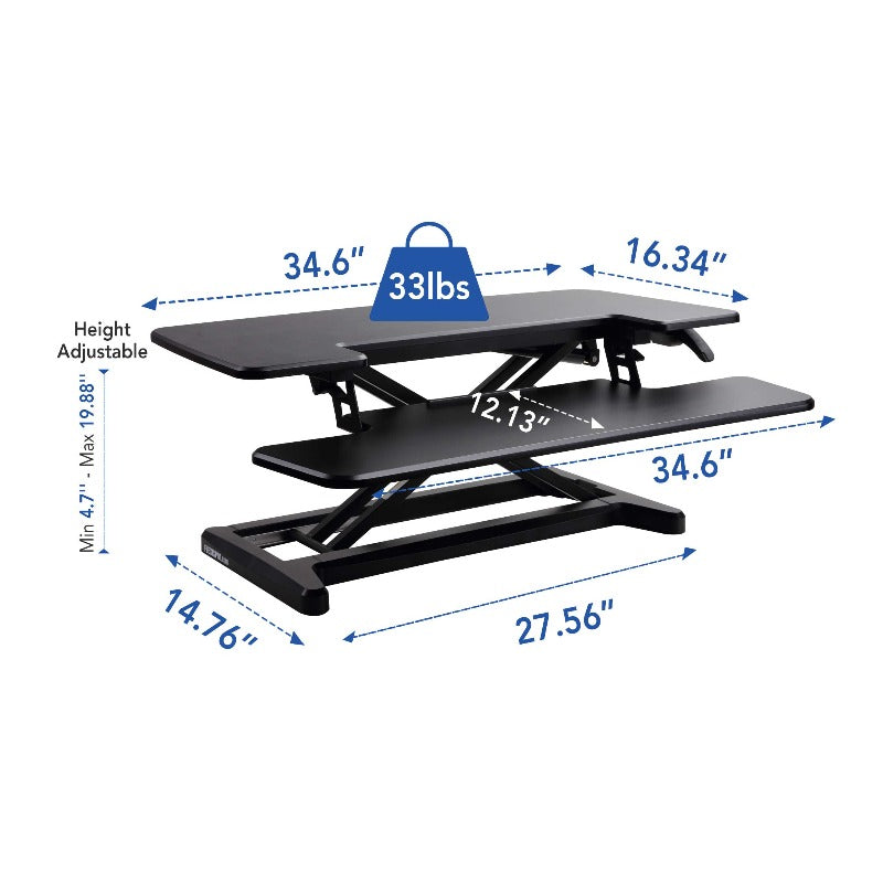 Loctek FlexiSpot Alcove Riser Height Adjustable Desk Converters M7N, M7MB, M7MN, M7C from Active Goods Canada