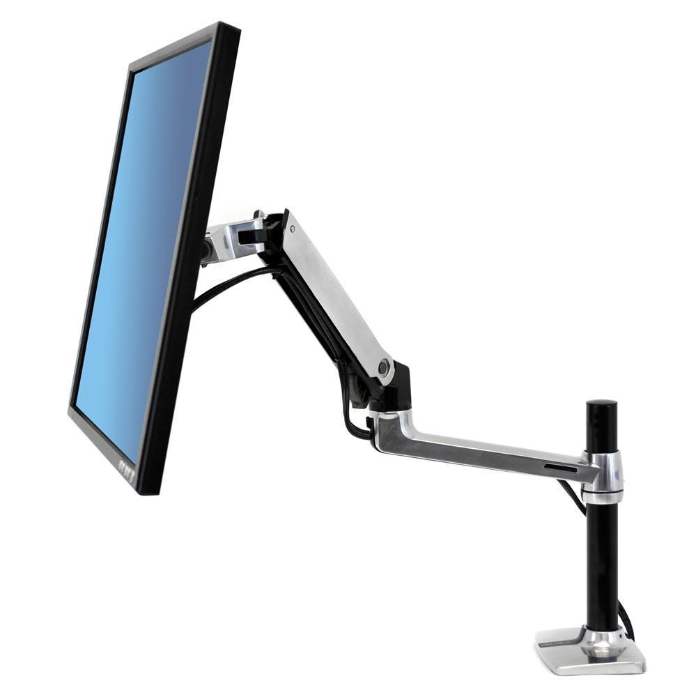 Ergotron LX Desk Monitor Arm, Tall Pole Fitneff Canada