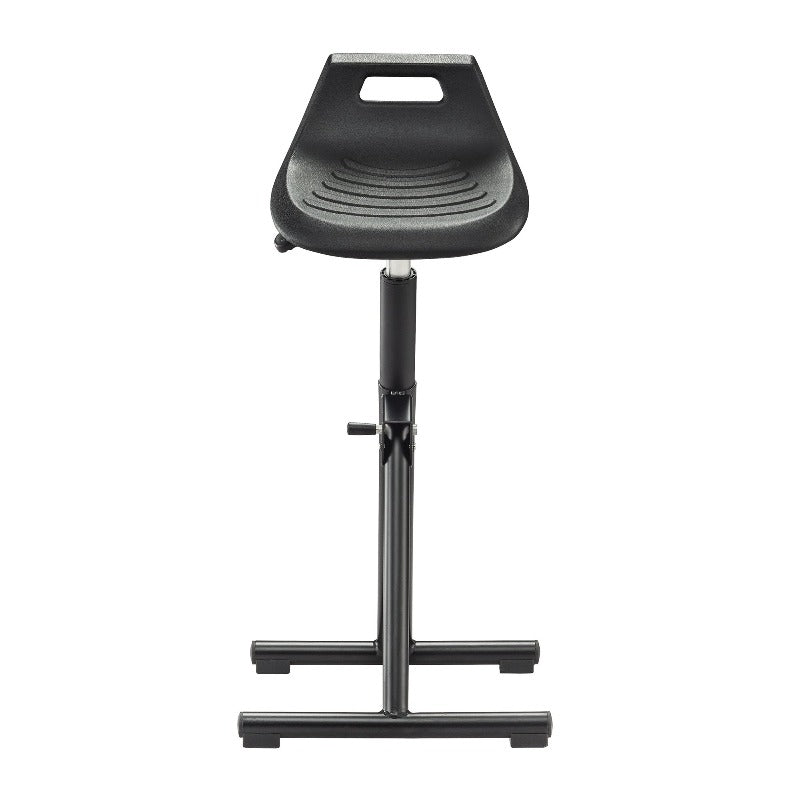Safco Industrial Perch Stool Black  5125BL Front from Active Goods Canada