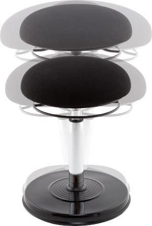 Fabric Kore™ Office Height-Adjustable Stool Fitneff Canada