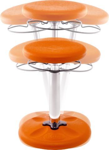 Orange Kore Kids Height-Adjustable Grow-with-Me Wobble Chair from Active Goods Canada