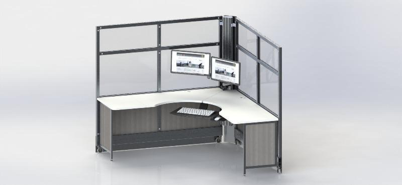 SwiftSpace Solo Workstation corner unit Fitneff Canada