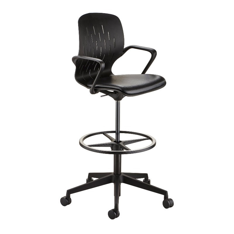 Safco Shell™ Extended-Height Chair Black Model # 7014BL from Active Goods