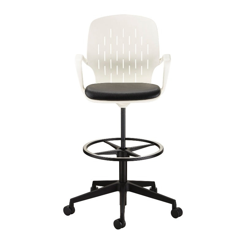 Safco Shell™ Extended-Height Chair Model # 7014WH Front View