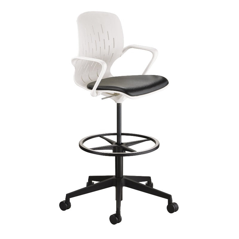 Safco Shell™ Extended-Height Chair Model # 7014WH Side View from Active Goods Canada
