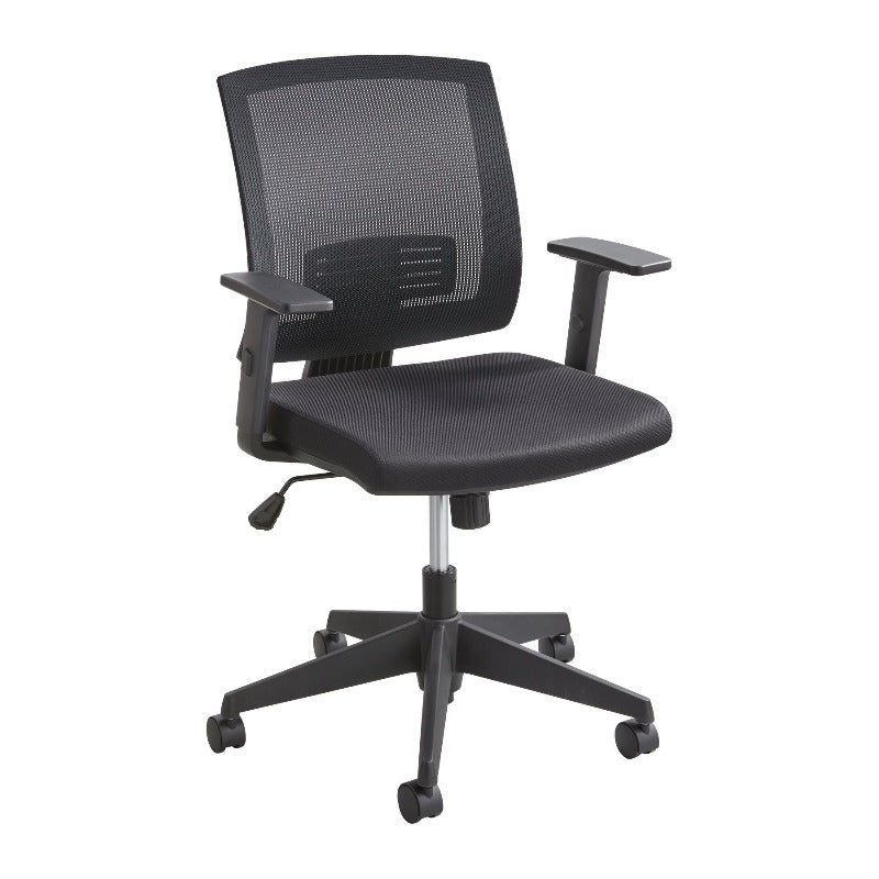 Safco Mezzo™ Task Chair Mid Back Office Chair Ergonomic 7195BL
