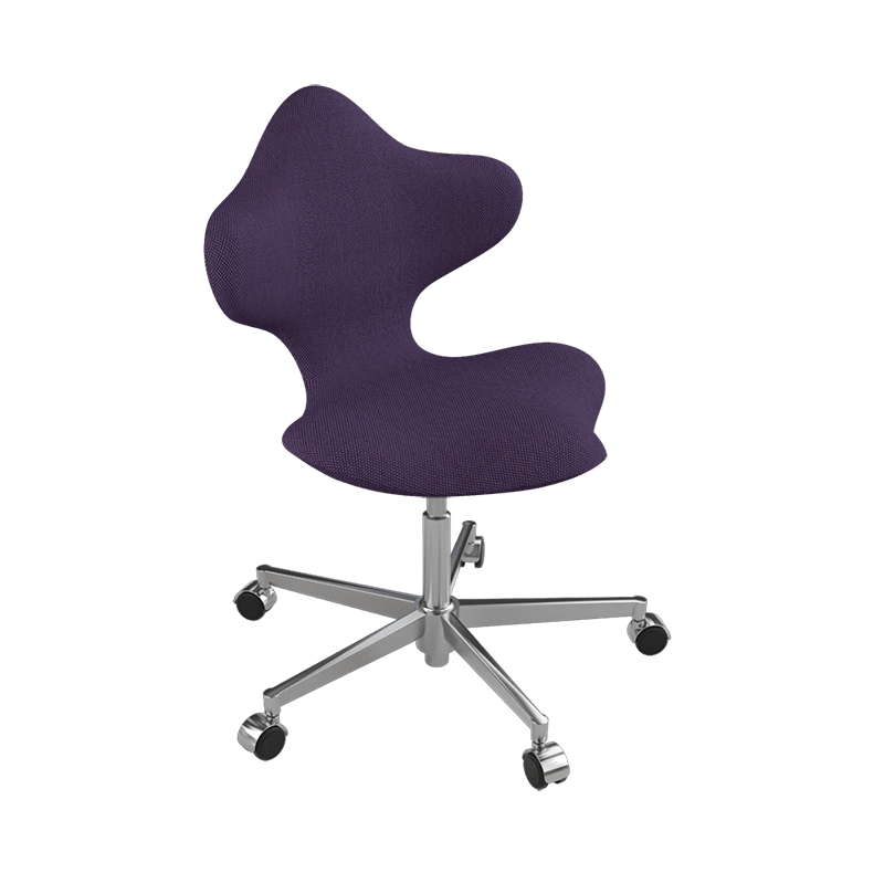 Varier Active 4150 Custom Order adjustable active chair from Active Goods Canada. The unique shape and design allows for both movement and support when sitting. With the 5 wheel base it is solid and functional with freedom to move in all directions