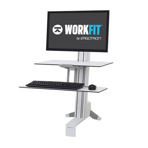 WorkFit-S Sit-Stand Desk, Single HD Workstation with Worksurface from Active Goods Canada