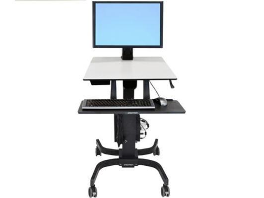 Ergotron Sit-Stand Desk Single Monitor WorkFit-CErgotron WorkFit-A Sit-Stand Desktop Workstation with suspended keyboard from Active Goods Canada