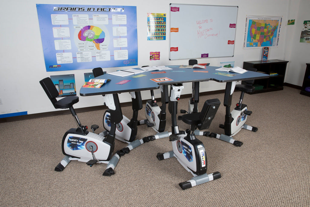 KidsFit Mutiple Pedal Desk from Active Goods Canada- active classroom