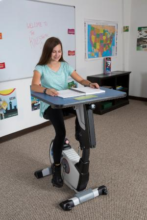 KidsFit Single Pedal Desk from Active Goods Canada- Movement in classroom