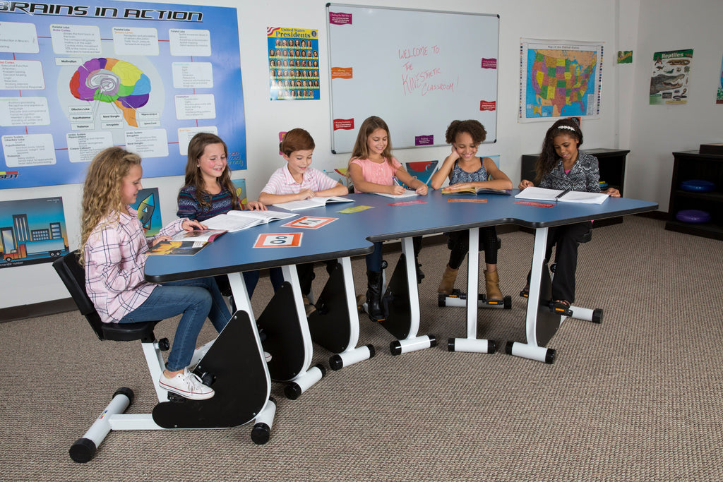 Height-adjustable pedal desk for the classroom - healthy kids from Active Goods Canada