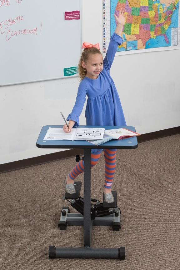 KidsFit Stepper Desk from Active Goods Canada- Movement in classroom