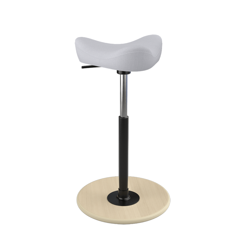 Varier Move Stool Small Revive Light Gray REV144 from Active Goods Canada
