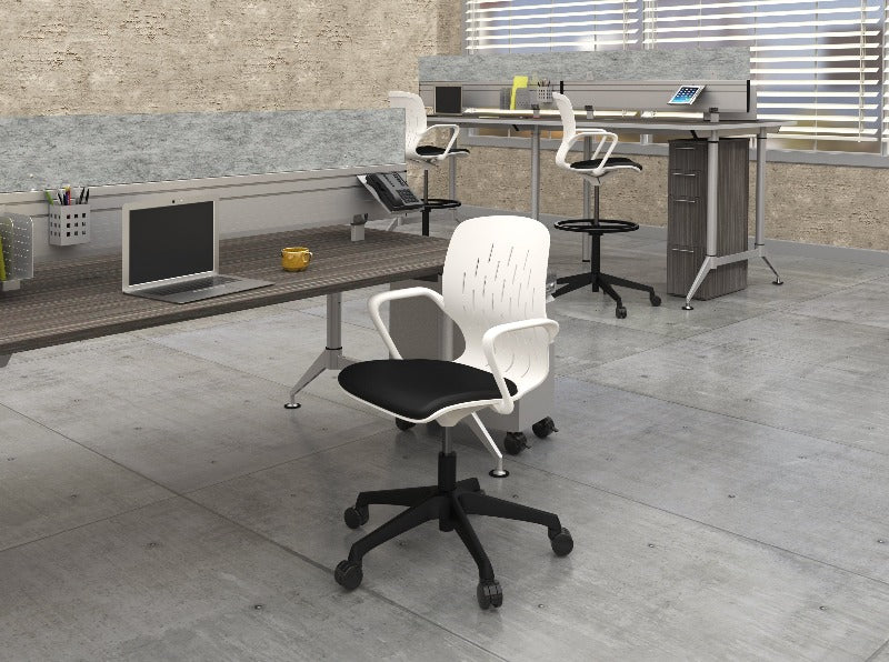 Safco Shell™ Extended-Height Chair Model # 7014WH Office Space 2 from Active Goods Canada
