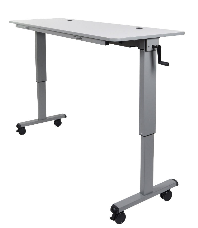 Luxor Adjustable Flip-Top Table, Crank Handle 60""