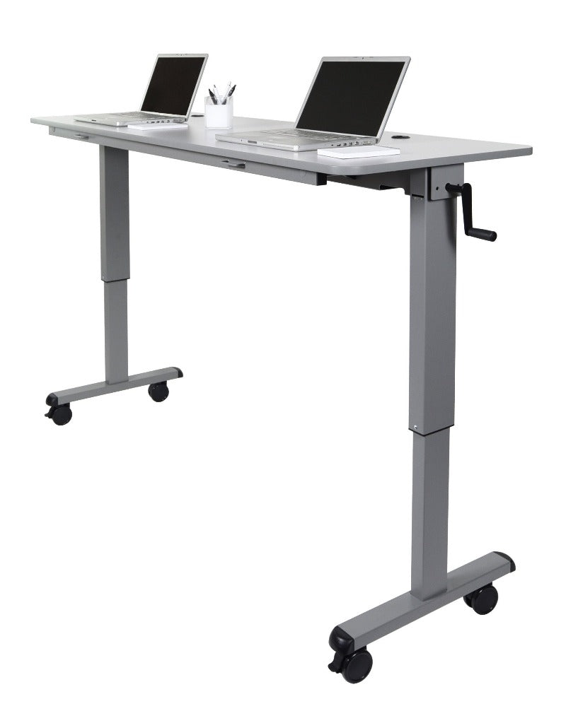 Luxor Adjustable Flip-Top Table, Crank Handle from Active Goods Canada