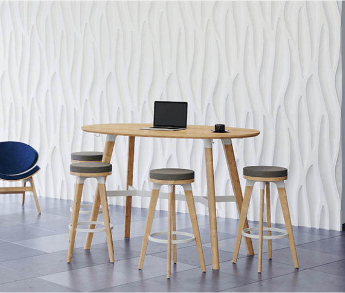 Safco Resi Bistro Meeting Table by Fitneff Canada in meeting space