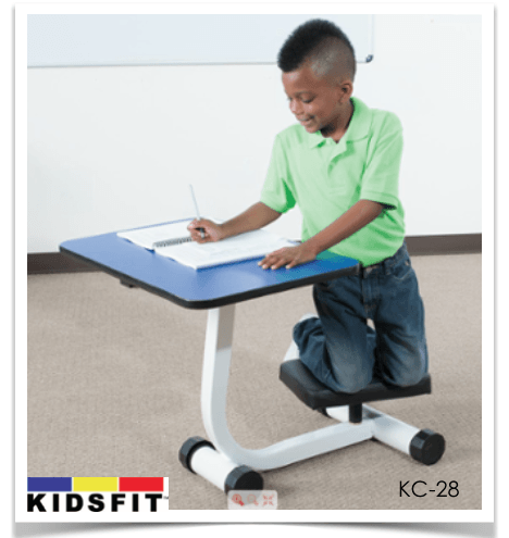 KidsFit Kneel and Spin Desk from Active Goods Canada - Movement in classroom
