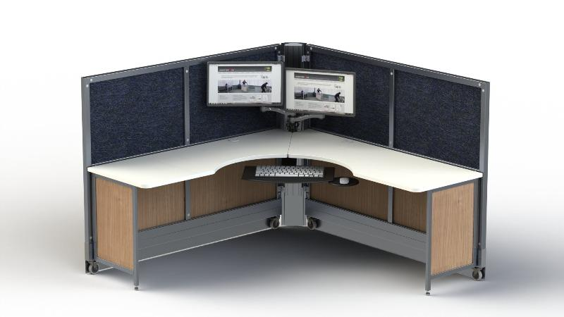 SwiftSpace Solo Workstation with monitor mounts Fitneff Canada