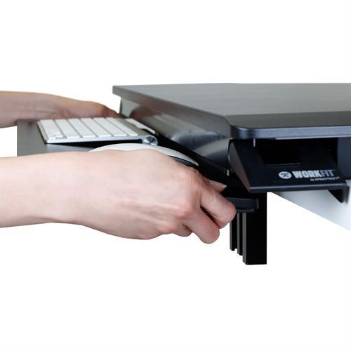 Adjustable suspended keyboard on sit-stand desk from Active Goods Canada